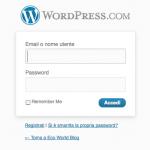 Pannello Accesso Wordpress